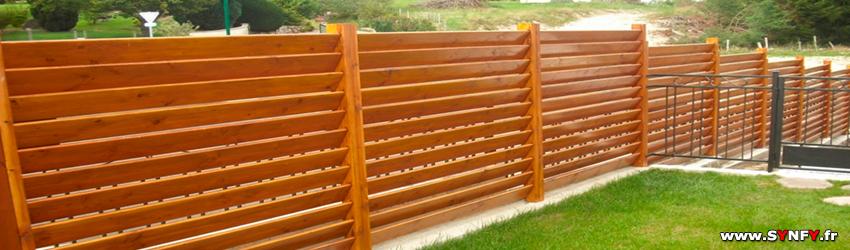 Faire un mur de clôture ou une palissade en bois, EAUBONNE Val ...