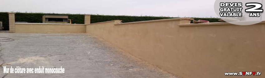 Faire un mur de clôture en maconnerie, BRUYERES SUR OISE Val dOise 95820